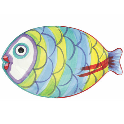 Pesci Colorati Figural Fish Platter