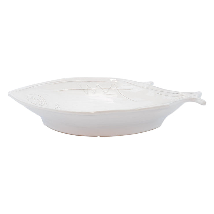 Pescatore White Figural Large Bowl by VIETRI