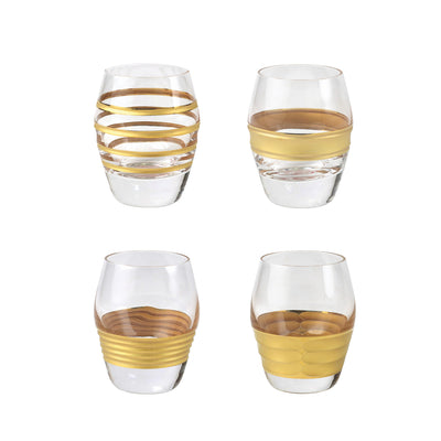 Raffaello Assorted Liquor Glasses - Set of 4