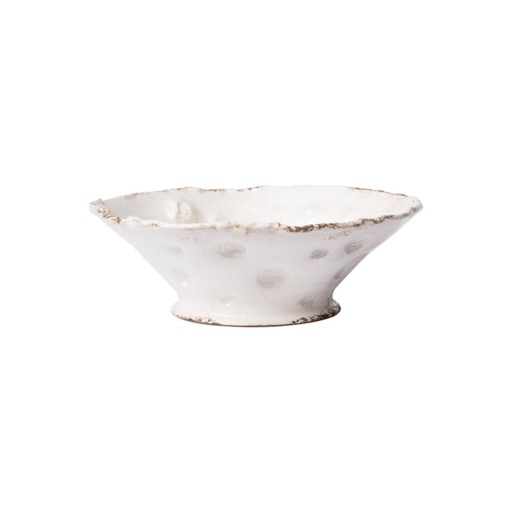 Rustic Garden Punched White Medium Cachepot by VIETRI
