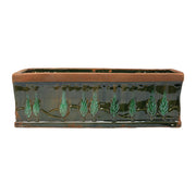 Rustic Garden Cypress Green Large Rectangular Planter by VIETRI