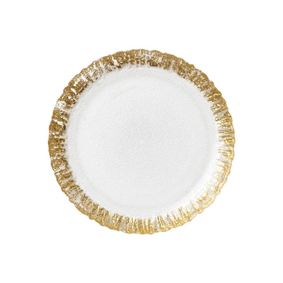 Rufolo Glass Gold Salad Plate by VIETRI
