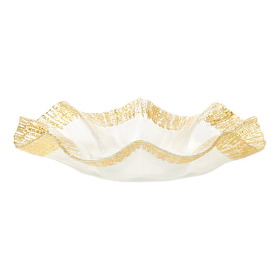 Rufolo Glass Gold Platter by VIETRI