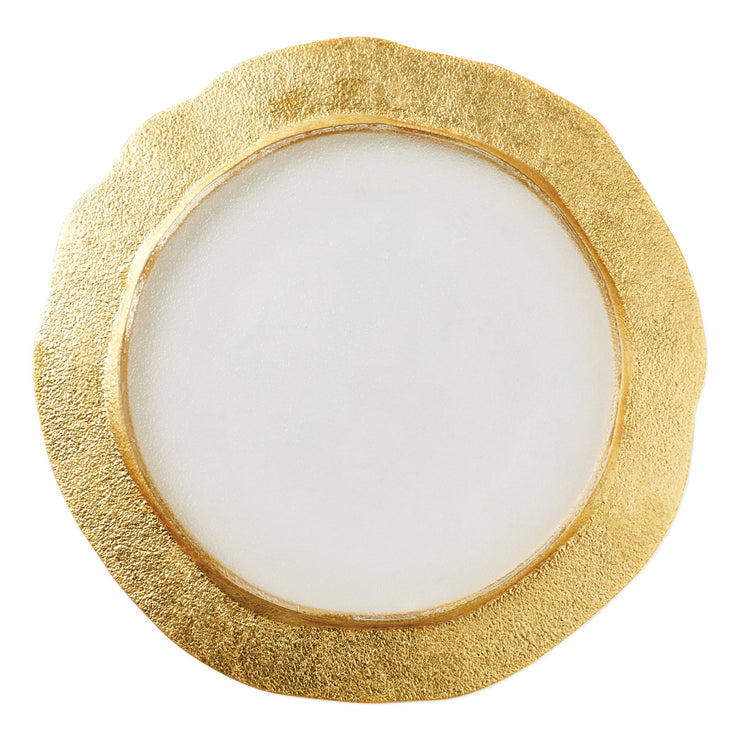 Rufolo Glass Gold Organic Service Plate/Charger by VIETRI
