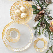 Rufolo Glass Gold Round Platter