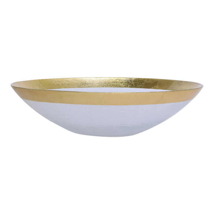 Rufolo Glass Gold Organic Large Bowl by VIETRI