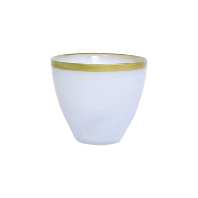 Rufolo Glass Gold Alabaster Votive by VIETRI