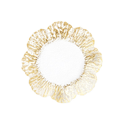 Rufolo Glass Gold Canape Plate by VIETRI