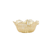 Rufolo Glass Gold Flower Small Bowl by VIETRI