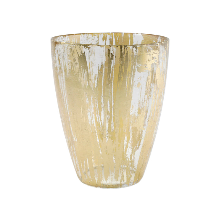Rufolo Glass Gold Brushstroke Vase by VIETRI