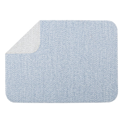 Reversible Placemats Blue/Gray Rectangular Placemat by VIETRI