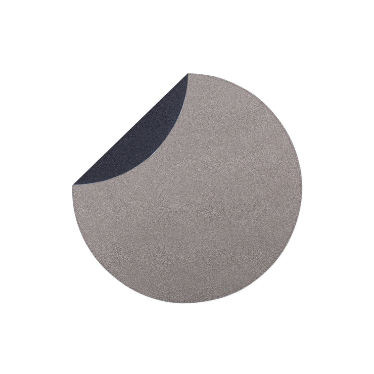 Reversible Placemats Black/Gray Round Placemat by VIETRI