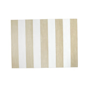 Reversible Placemats Cream/White Striped Rectangular Placemat