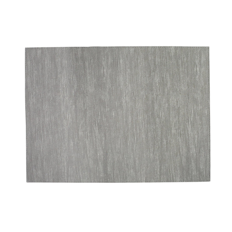 Reversible Placemats Gray/White Striped Rectangular Placemat