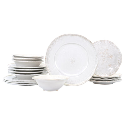 Bellezza Stone Sixteen-Piece Place Setting by VIETRI