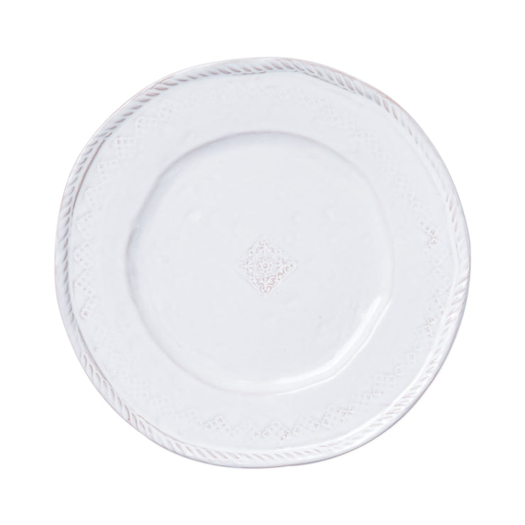 Bellezza Stone White Dinner Plate by VIETRI