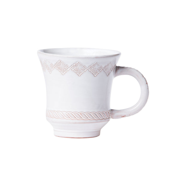 Bellezza Stone White Mug by VIETRI