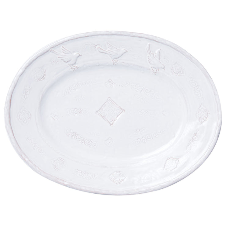 Bellezza Stone White Large Oval Platter by VIETRI
