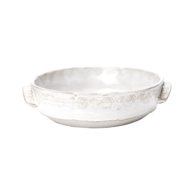 Bellezza Stone White Medium Round Baking Dish by VIETRI