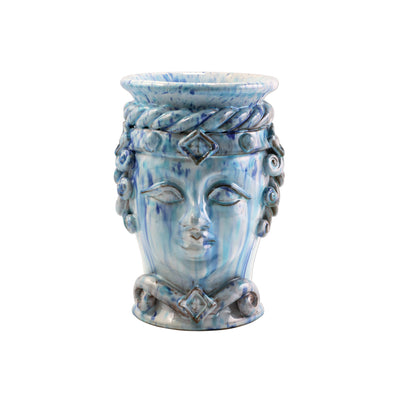 Sicilian Heads Blue Small Queen Head