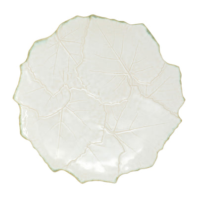 Foglia Stone White Cheese/Tart Plate by VIETRI