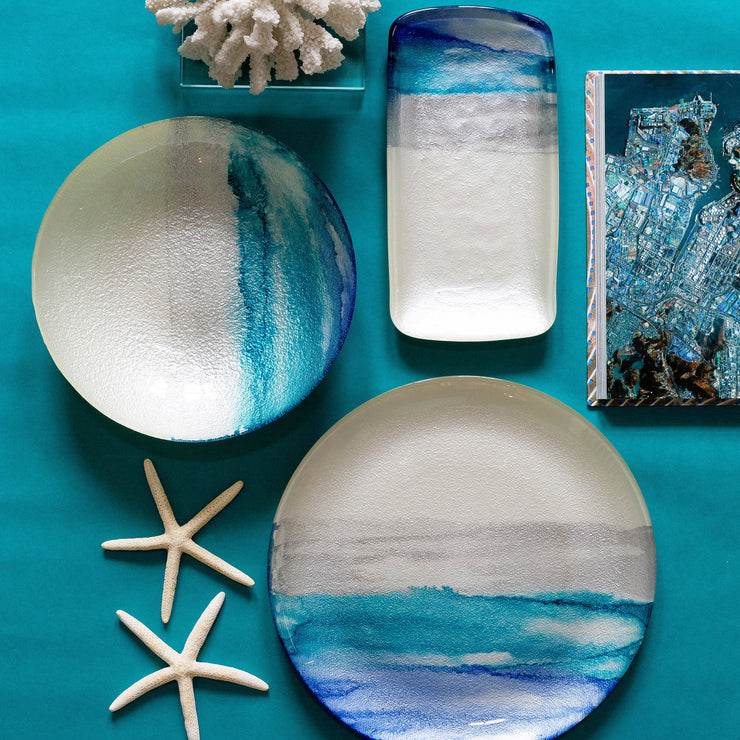 Sea Glass Ombre Rectangular Tray