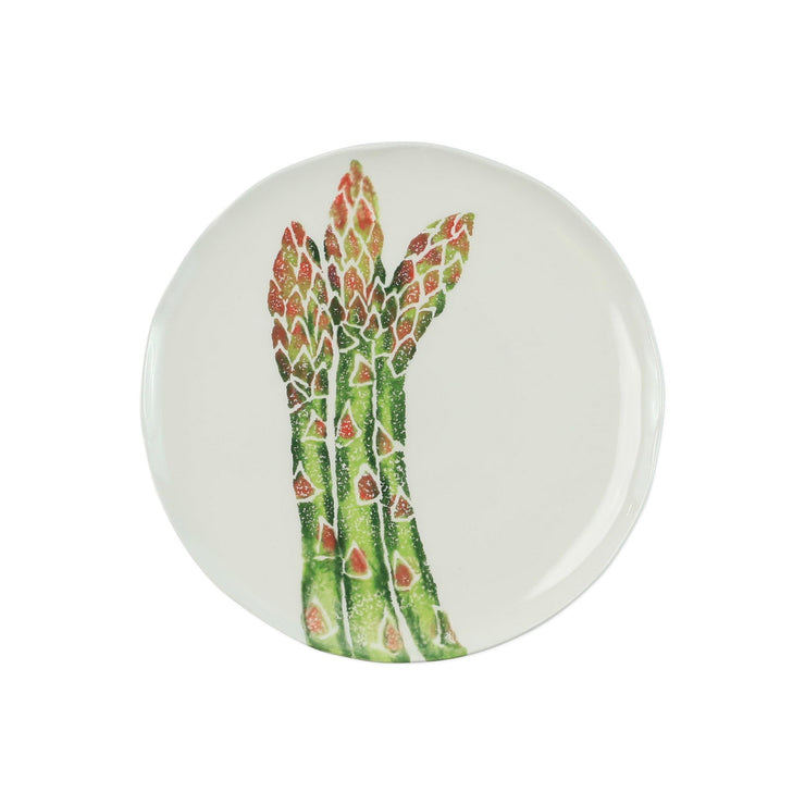 Spring Vegetables Asparagus Salad Plate by VIETRI