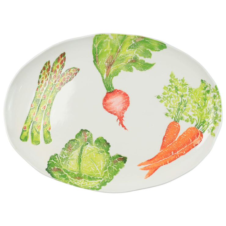 Spring Vegetables Large Oval Platter by VIETRI