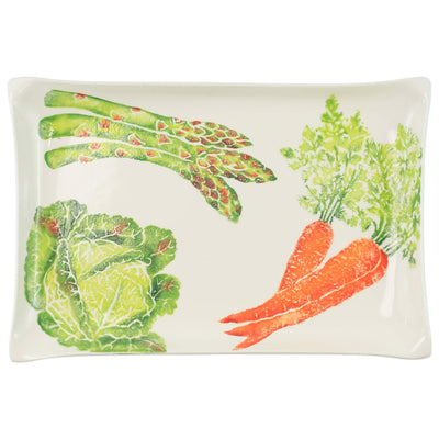 Spring Vegetables Rectangular Platter by VIETRI