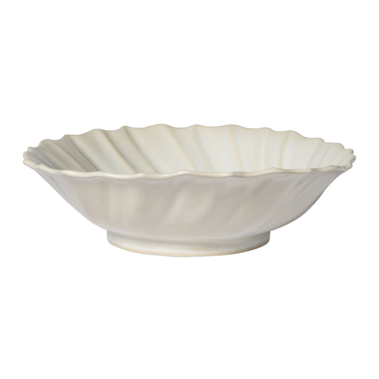 Incanto Stone Linen Ruffle Large Bowl by VIETRI