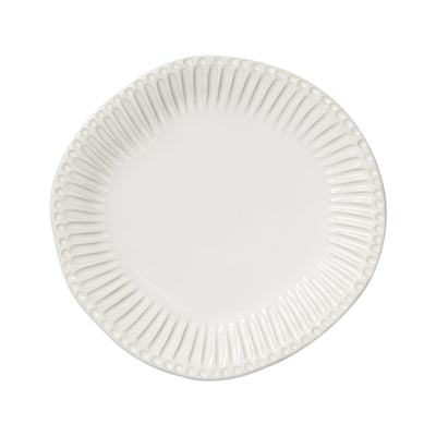 Incanto Stone White Stripe Dinner Plate by VIETRI