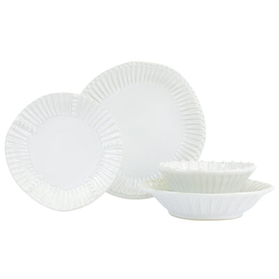 Incanto Stone White Stripe Four-Piece Place Setting by VIETRI
