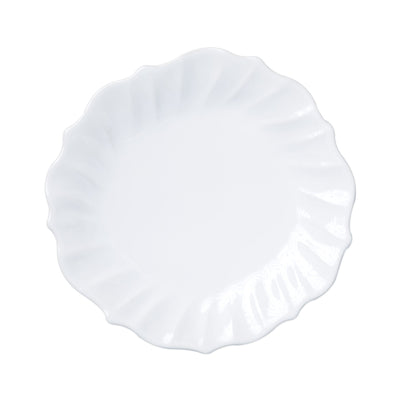 Incanto Stone White Ruffle Dinner Plate by VIETRI