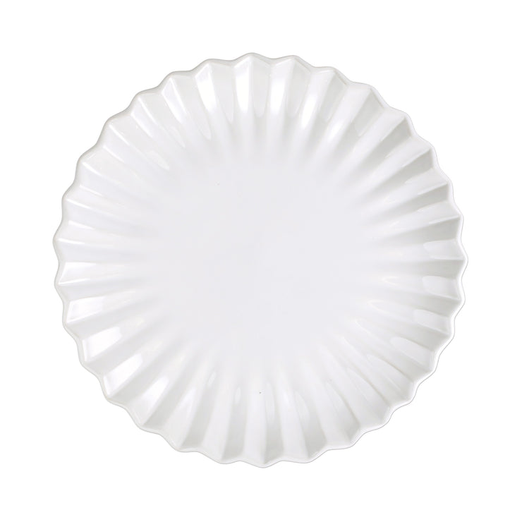 Incanto Stone White Pleated Dinner Plate