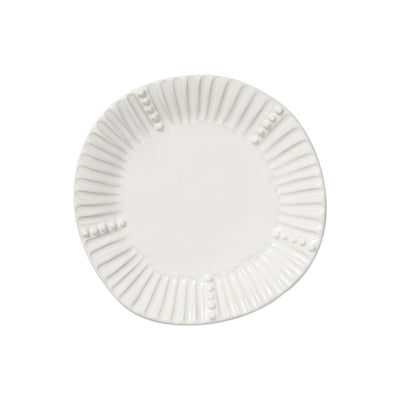 Incanto Stone White Stripe Salad Plate by VIETRI