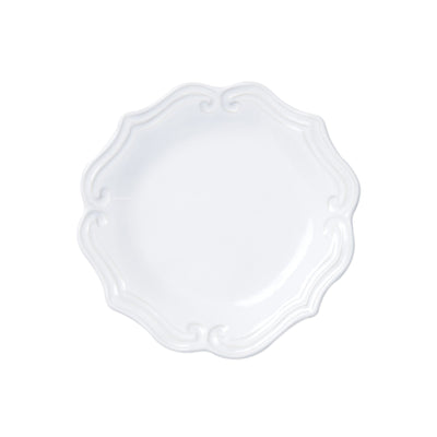 Incanto Stone White Baroque Salad Plate by VIETRI
