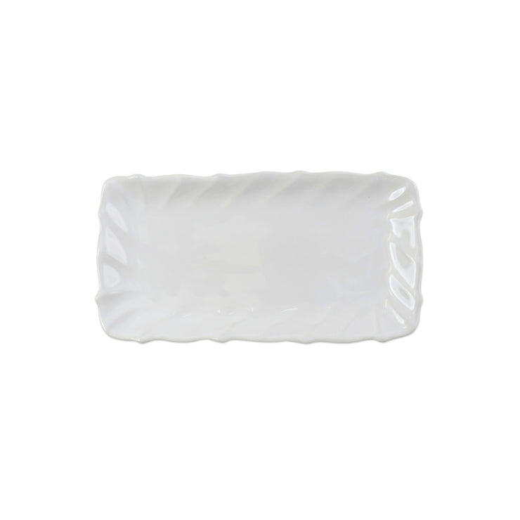 Incanto Stone White Ruffle Rectangular Tray by VIETRI