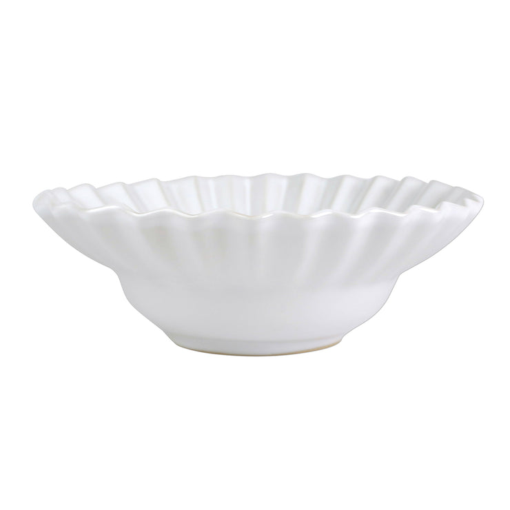 Incanto Stone White Pleated Small Serving Bowl