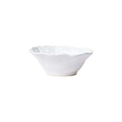 Incanto Stone White Lace Cereal Bowl by VIETRI