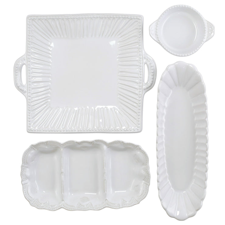 Incanto Stone White 4-Piece Hostess Set by VIETRI