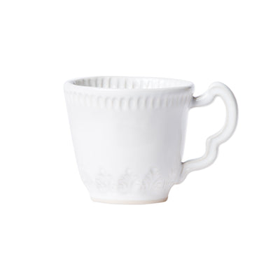 Incanto Stone White Leaf Mug by VIETRI