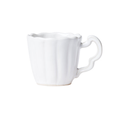 Incanto Stone White Scallop Mug by VIETRI