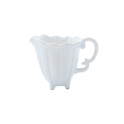 Incanto Stone White Scallop Creamer by VIETRI