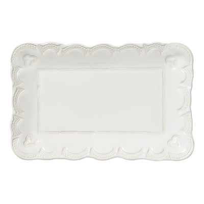 Incanto Stone White Lace Small Rectangular Platter by VIETRI
