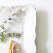 Incanto Stone Lace Small Rectangular Platter