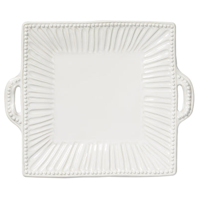 Incanto Stone Stripe Square Handled Platter by VIETRI