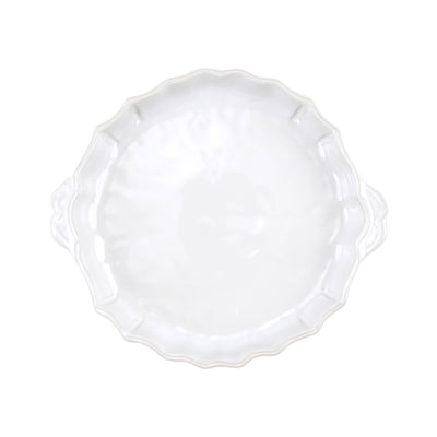 Incanto Stone White Baroque Pie Dish by VIETRI