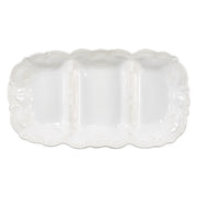 Incanto Stone White Lace Medium Three-Part Server by VIETRI