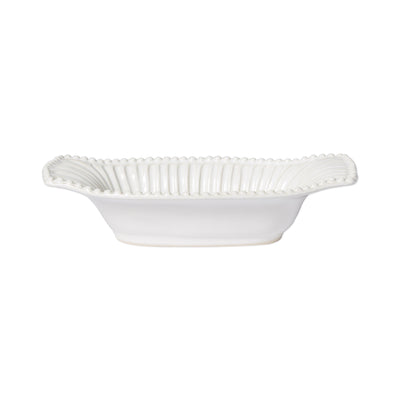 Incanto Stone White Stripe Small Au Gratin by VIETRI