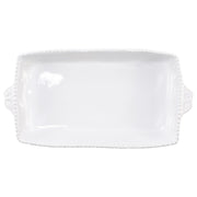 Incanto Stone White Stripe Rectangular Baking Dish by VIETRI